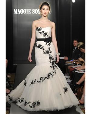 Black-and-White Wedding Dresses, Spring 2013 Bridal Fashion Week ...