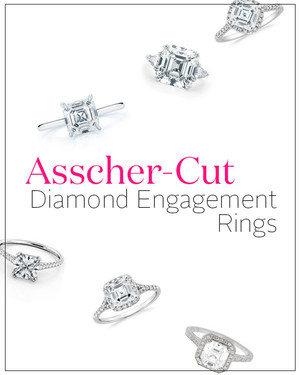 Asscher-Cut Diamond Engagement Rings
