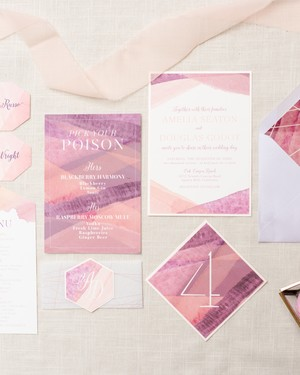 14 Geometric Wedding Invitations with an Edge