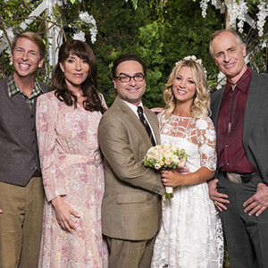 The Big Bang Theory vow renewal with Sheldon and Penny's family