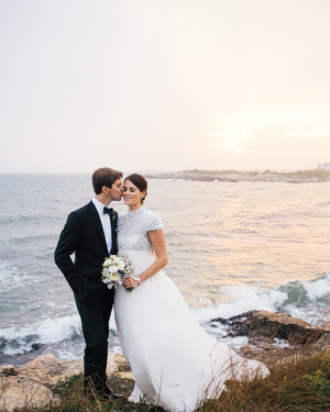 Olivia and Tyler's Black-Tie Wedding in Their Family's Seaside Home