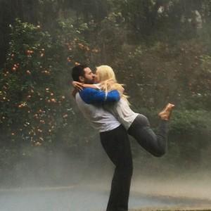 Christina Aguilera and Matt Rutler Kissing Photo