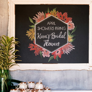 kara bridal shower signage