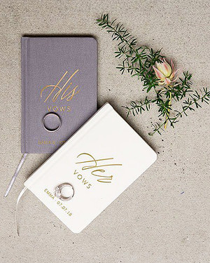 14 Wedding Vow Booklets We Love