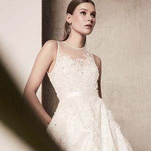 illusion a-line elie saab wedding dress spring 2018