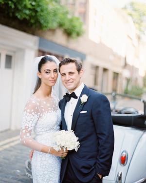A Classic Wedding in London with an All-White Color Palette