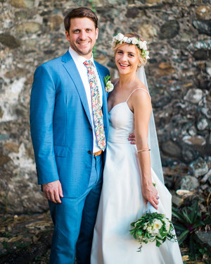A Fresh, Blue-and-White Themed Wedding in the Caribbean