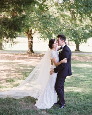 An Elegant Garden Wedding Near Baltimore