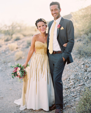 This Backyard Wedding Was Glammed Up with Gilded Details