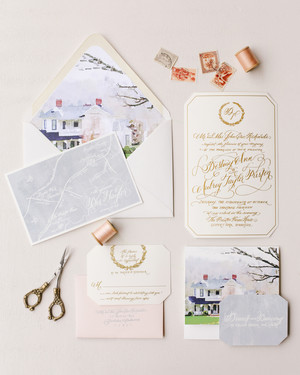 the freshest spring wedding invitations | martha stewart weddings, Wedding invitations