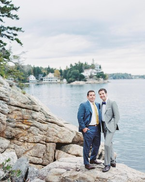 A South-Meets-East Coast Nautical Maine Wedding