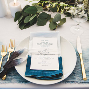 katie simon wedding place setting
