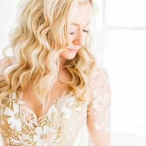 bride dress portrait