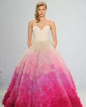 Colored Wedding Dresses That Make a Statement Down the Aisle