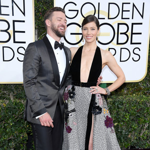 Justin Timberlake and Jessica Biel Golden Globes 2017