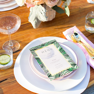 bridal shower place setting
