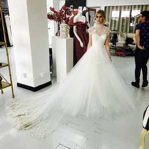 Carlson Young in Custom Christian Siriano Wedding Dress