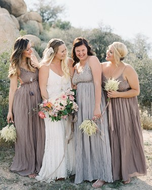 Spaghetti Strap Bridesmaid Dresses