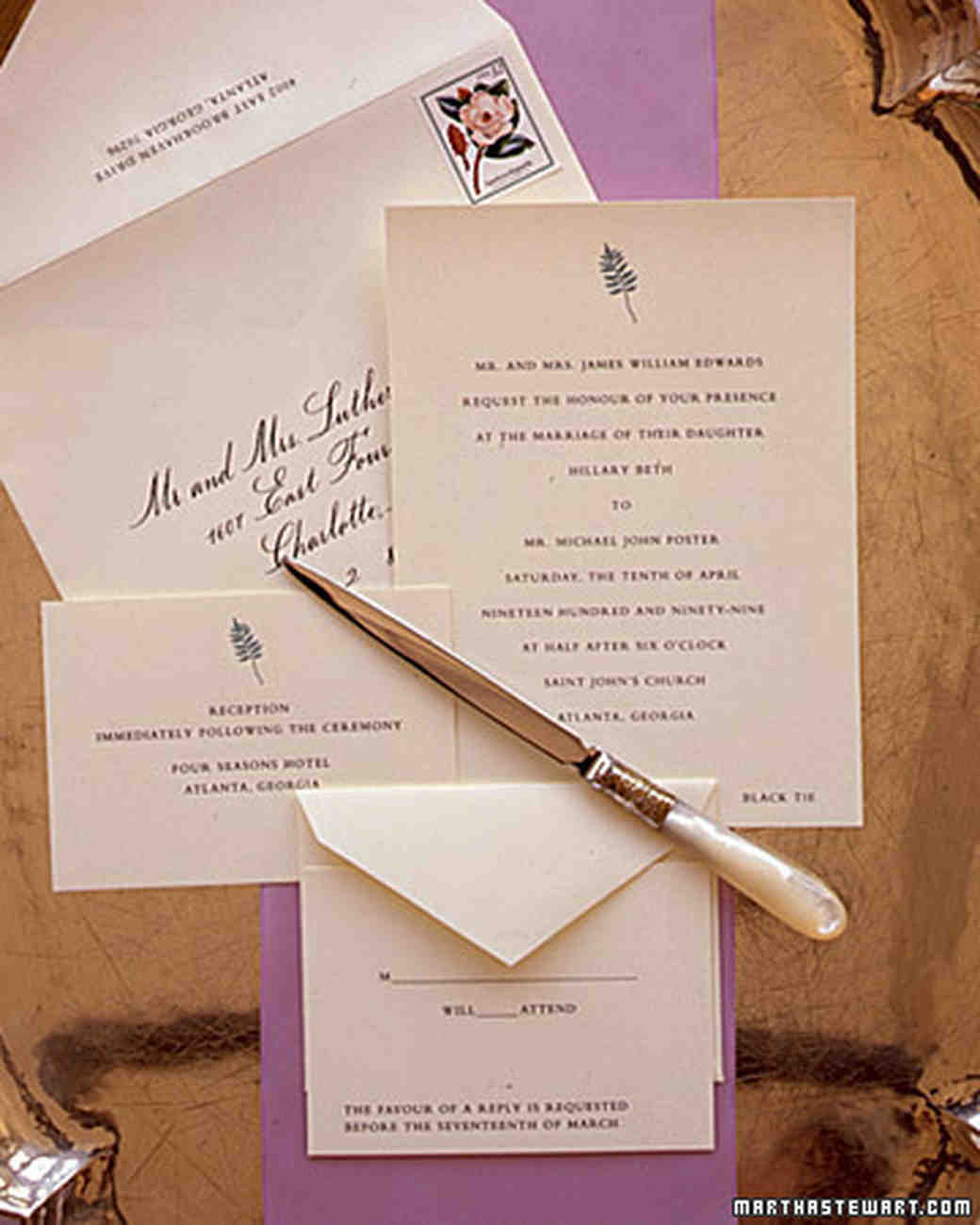 Wedding Gift Etiquette On Invitation : Information On Wedding Invitations the etiquette of wedding invitation ...