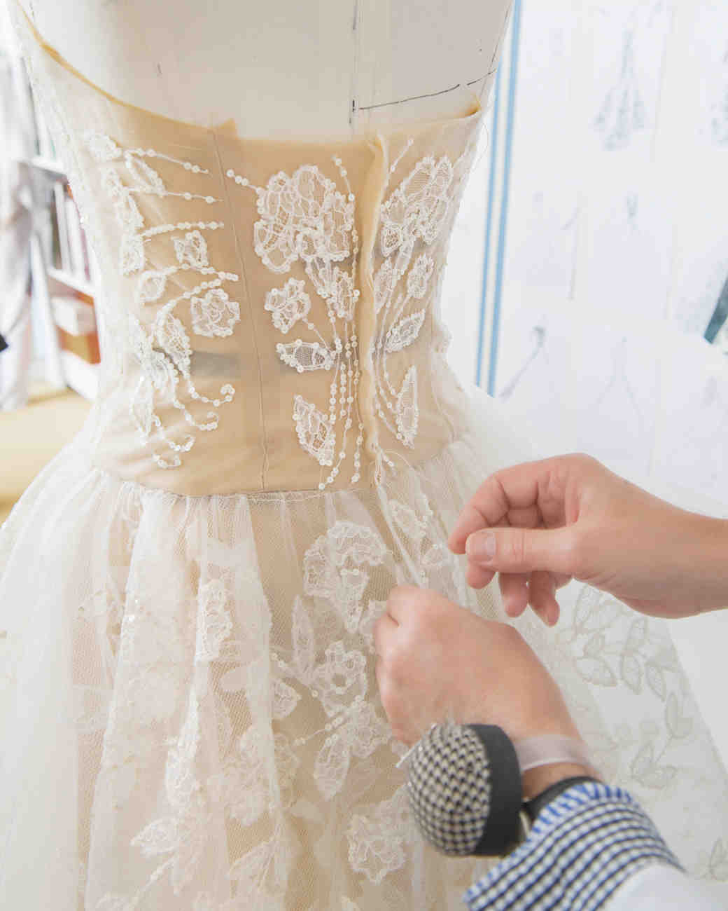 A diary of the making of a wedding dress behind the seams for How to make a wedding dress