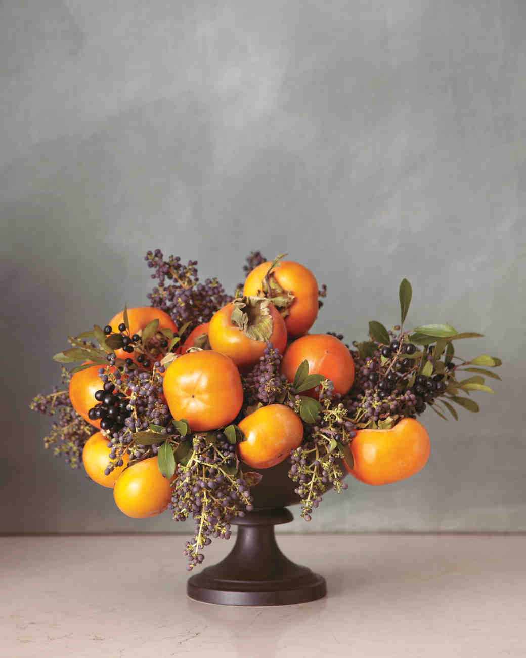 Persimmon Wedding Centerpiece