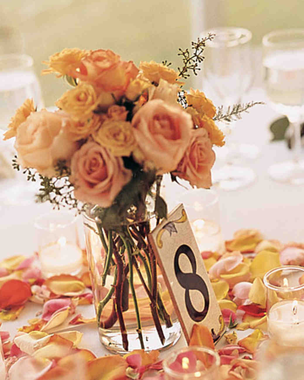 Rose wedding centerpieces martha stewart weddings