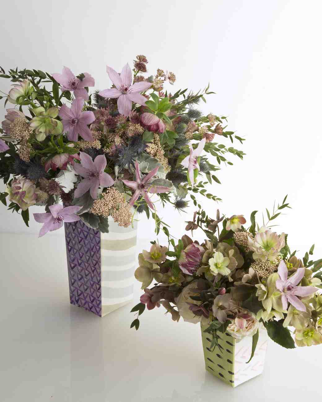 Hand-Painted Fabric Vases