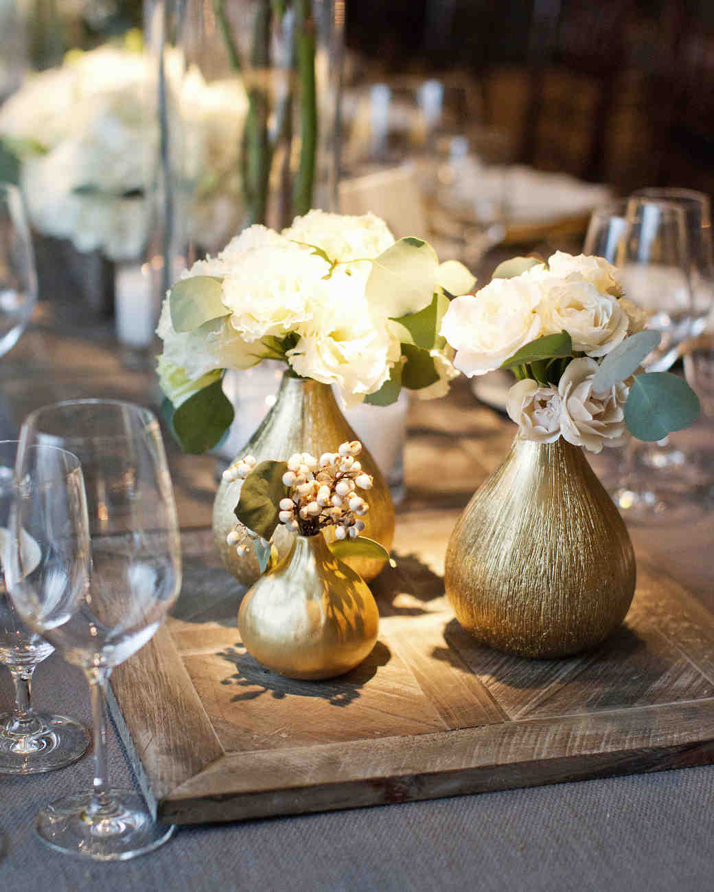 Ideas For Wedding Flower Arrangements: Glamorous Wedding Centerpieces