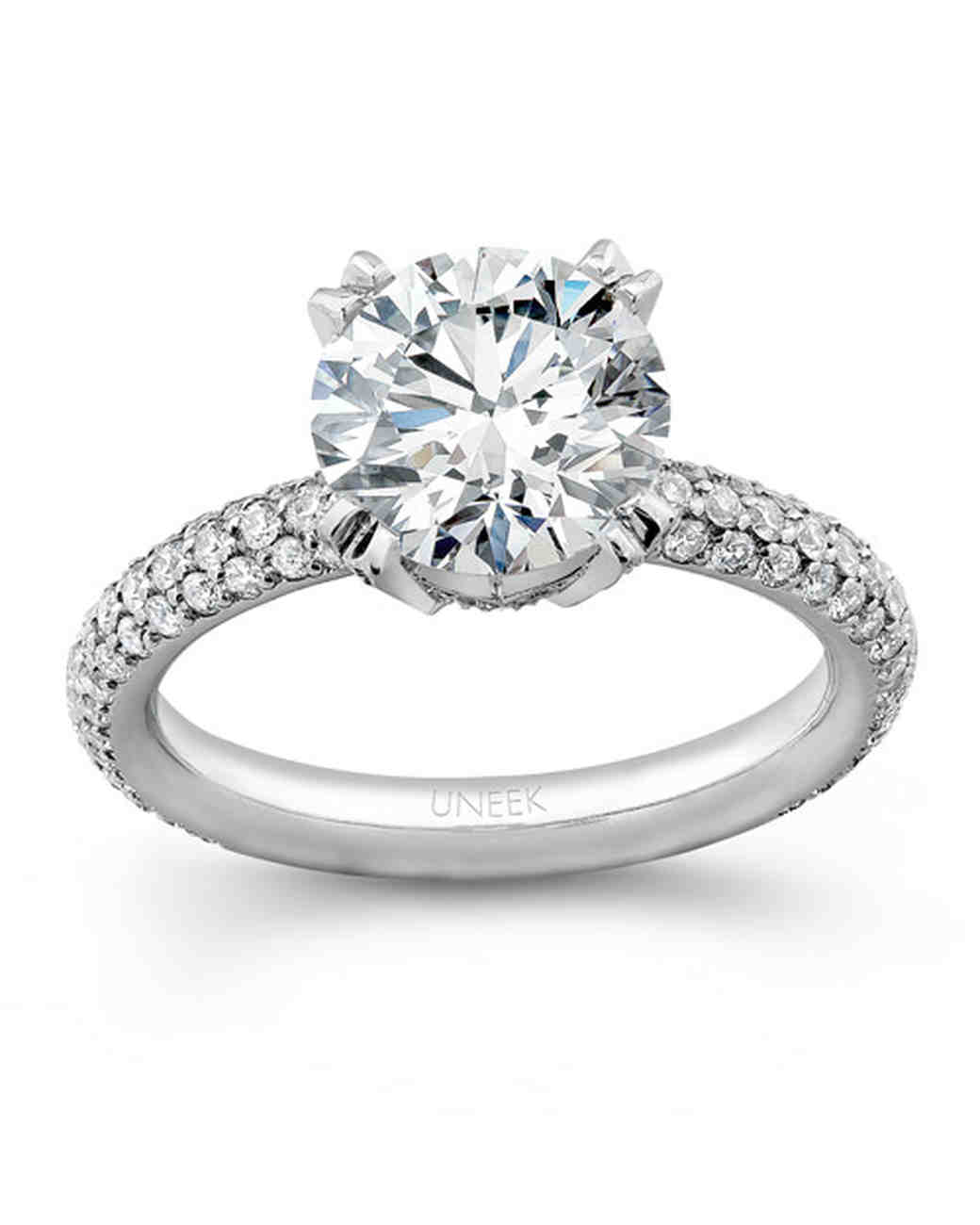 Round Bands: Round-Cut Diamond Engagement Rings