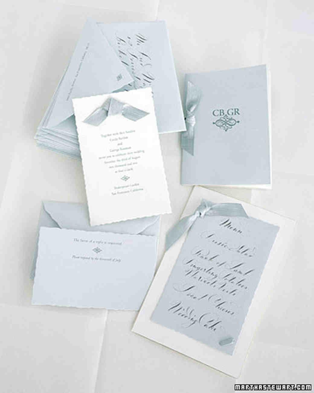 Classic wedding invitations martha stewart weddings for Wedding invitations wording martha stewart