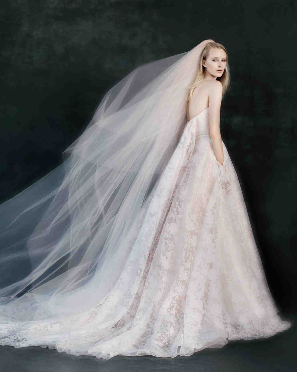 12 seriously stunning wedding veils martha stewart weddings for Wedding dress with veil