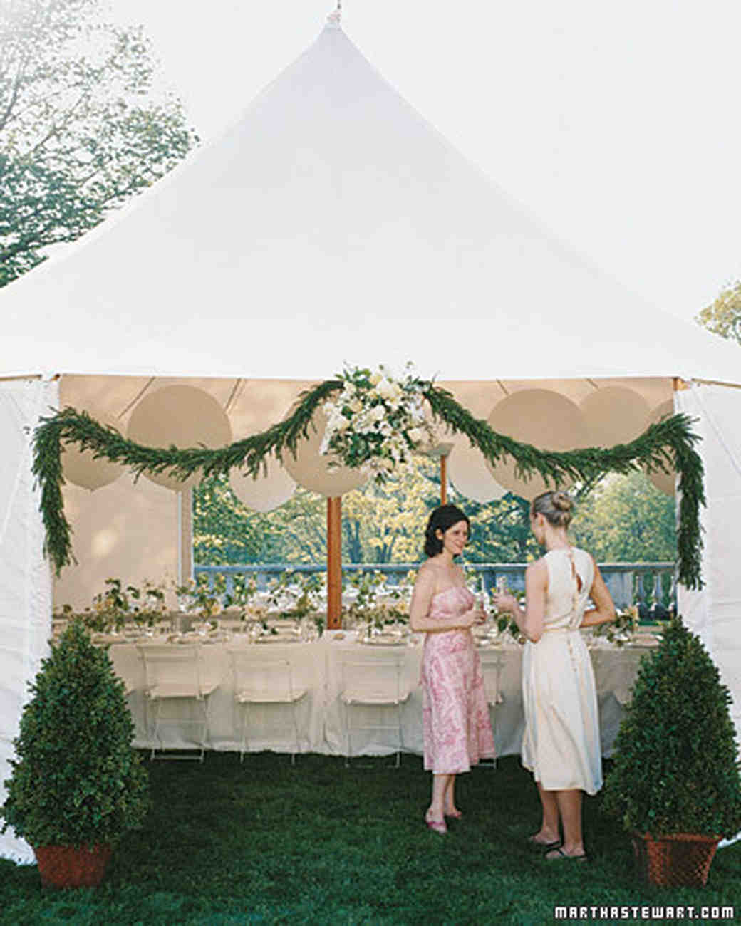 summer weddings an outdoor occasion martha stewart weddings & Tent Decorations For Outside Occasions - wedding tent rentals ...