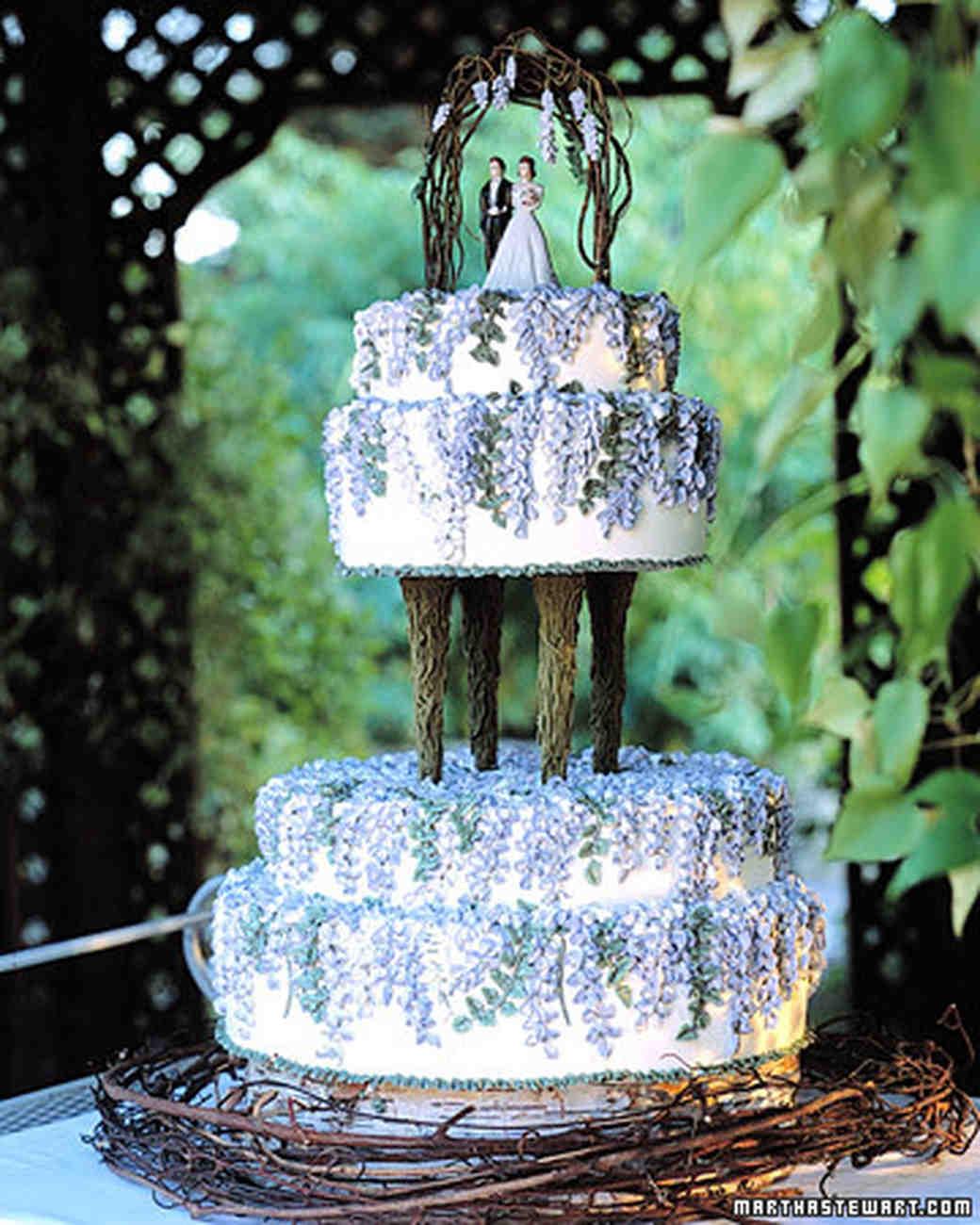Martha Stewart Weddings: Blue And Purple Wedding Cakes