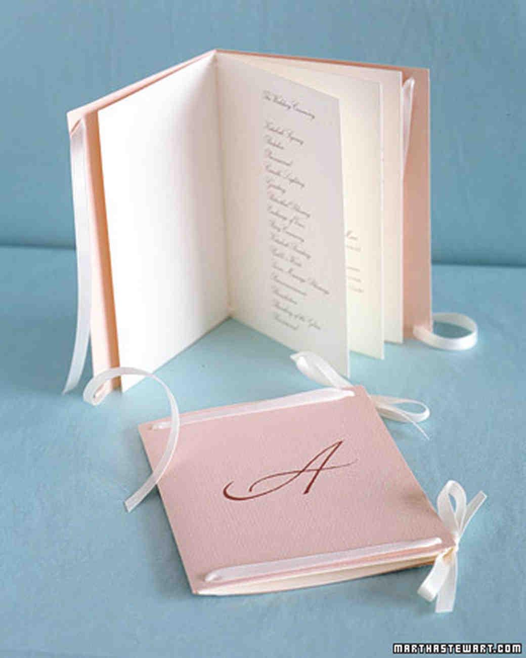 45 Perfect Wedding Ceremony Programs