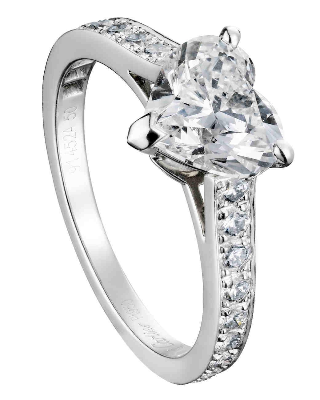 HeartShaped Engagement Rings Martha Stewart Weddings
