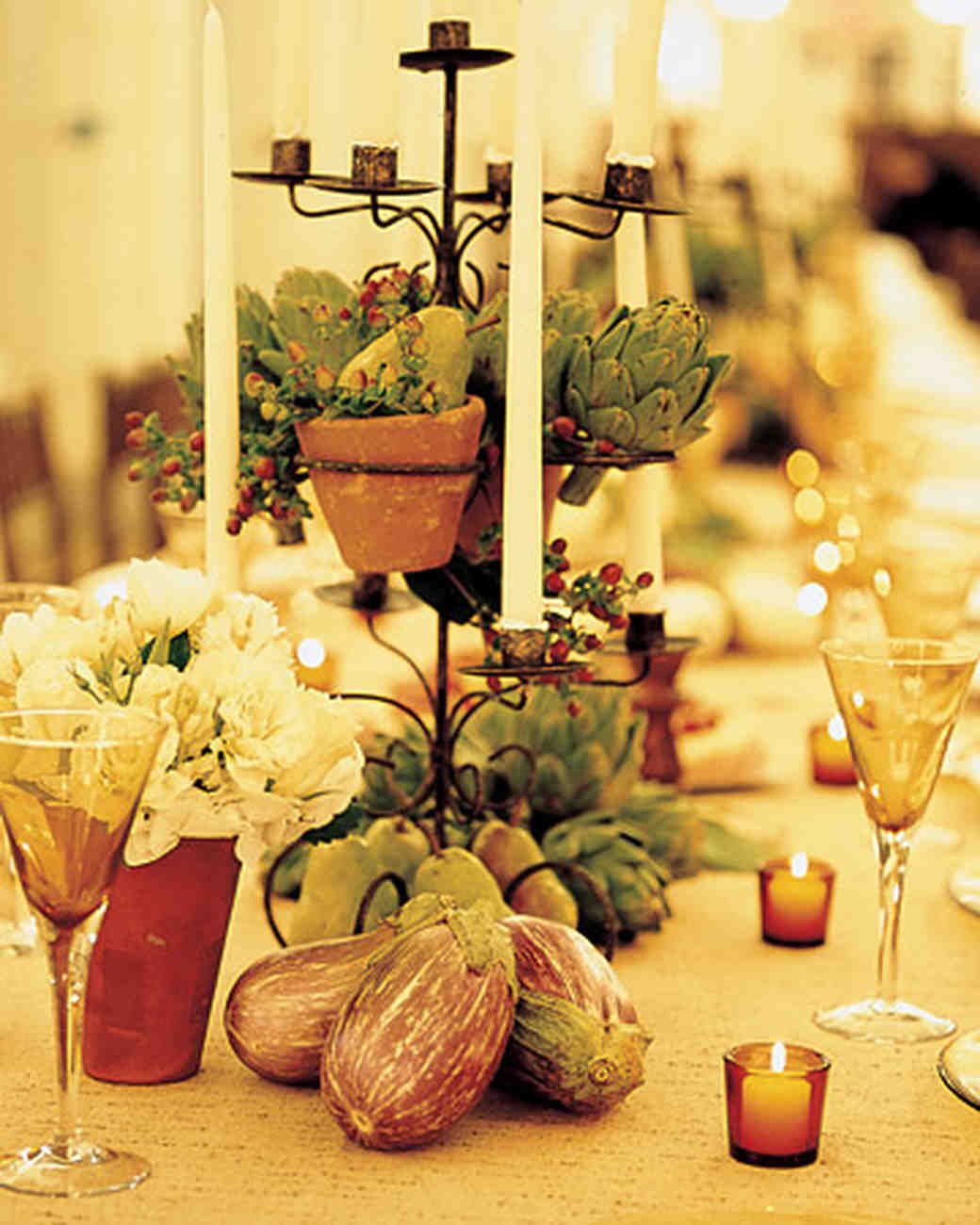 Fruit-and-Vegetable Centerpieces