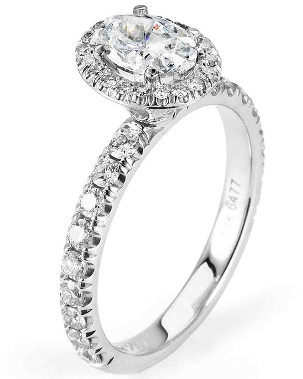 Michael M. White Gold Engagement Ring