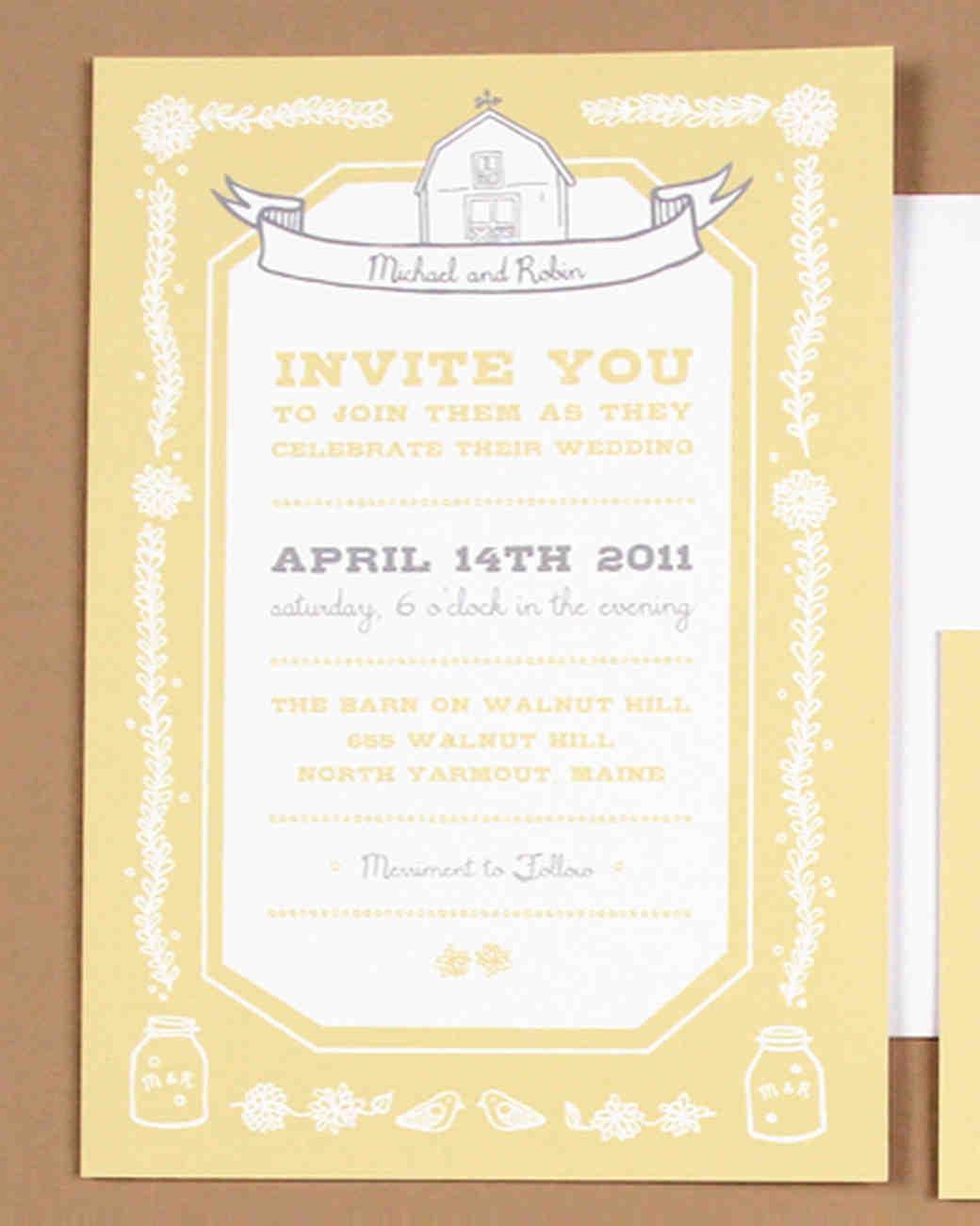 46 Elevated Ideas For Your Rustic Wedding Invitations | Martha Stewart  Weddings