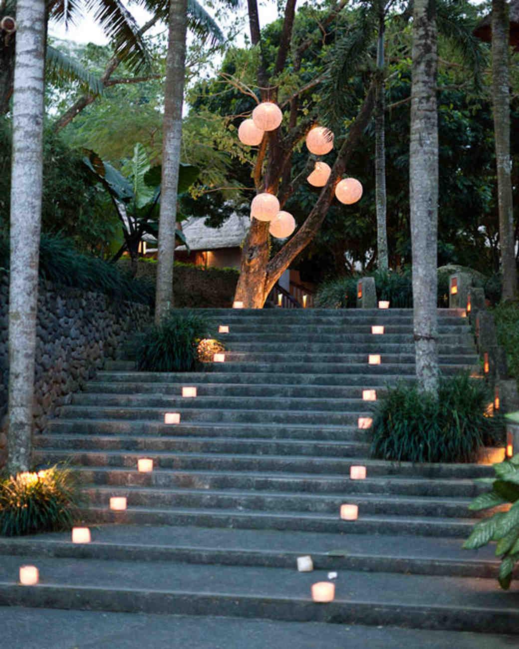 lanterns on stairs