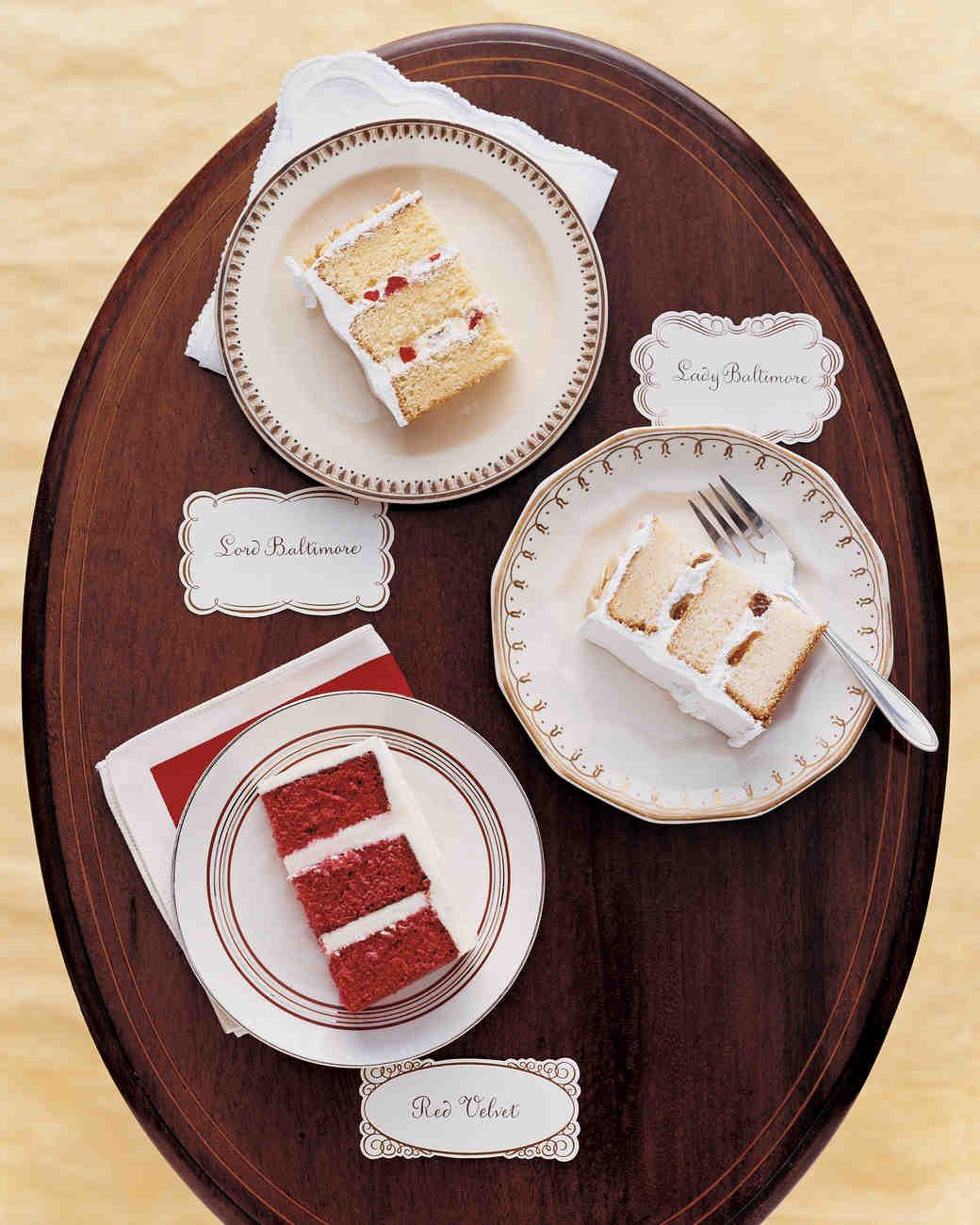 15 Red Velvet Wedding Cakes & Confections | Martha Stewart ...