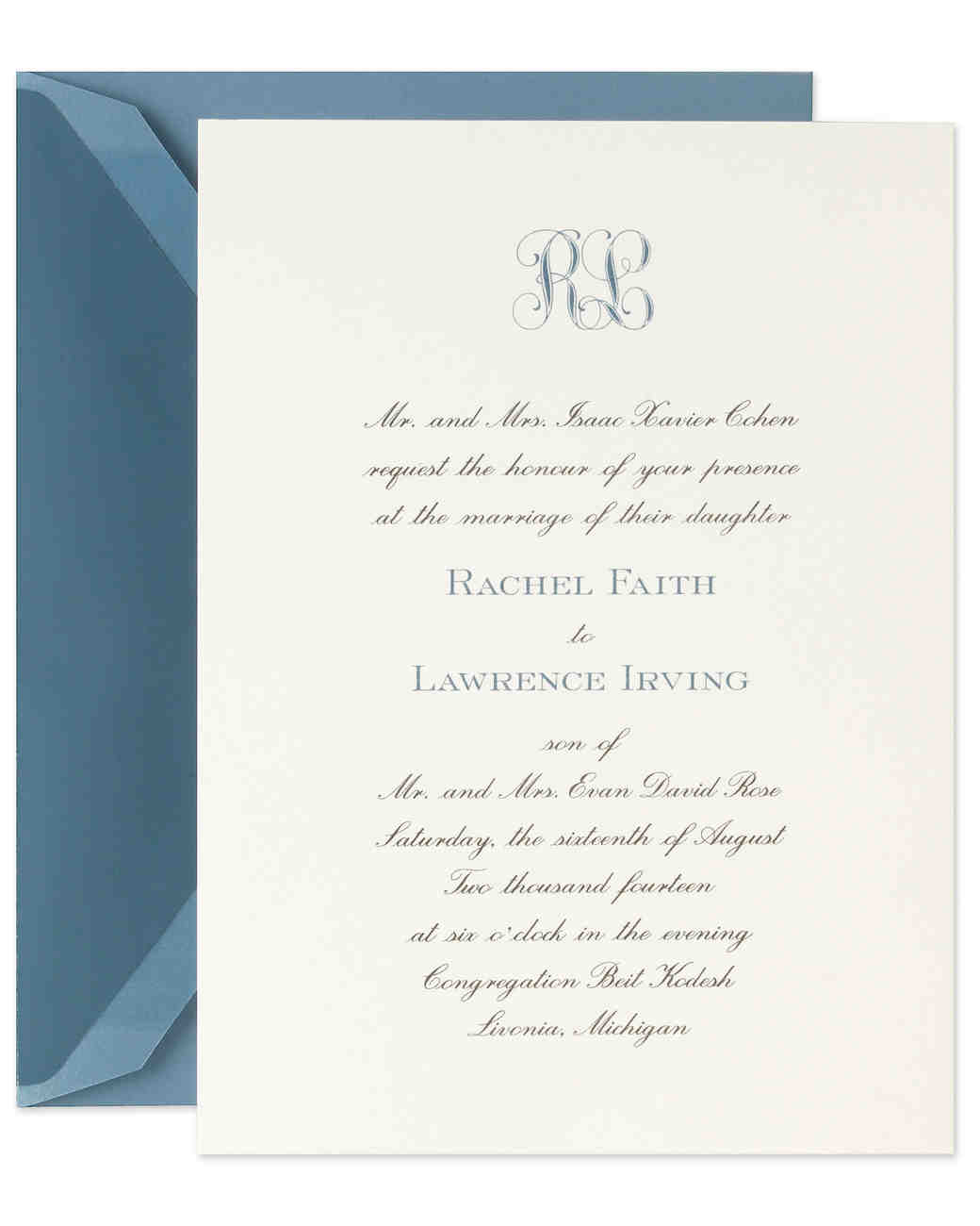 Classic Wedding Invitations For Traditional Brides And