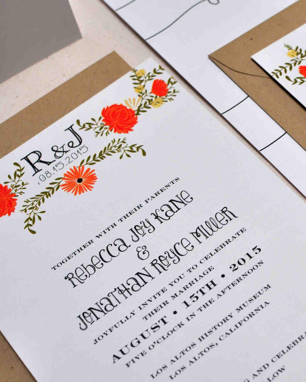 8 Details To Include When Wording Your Wedding Invitation | Martha Stewart  Weddings