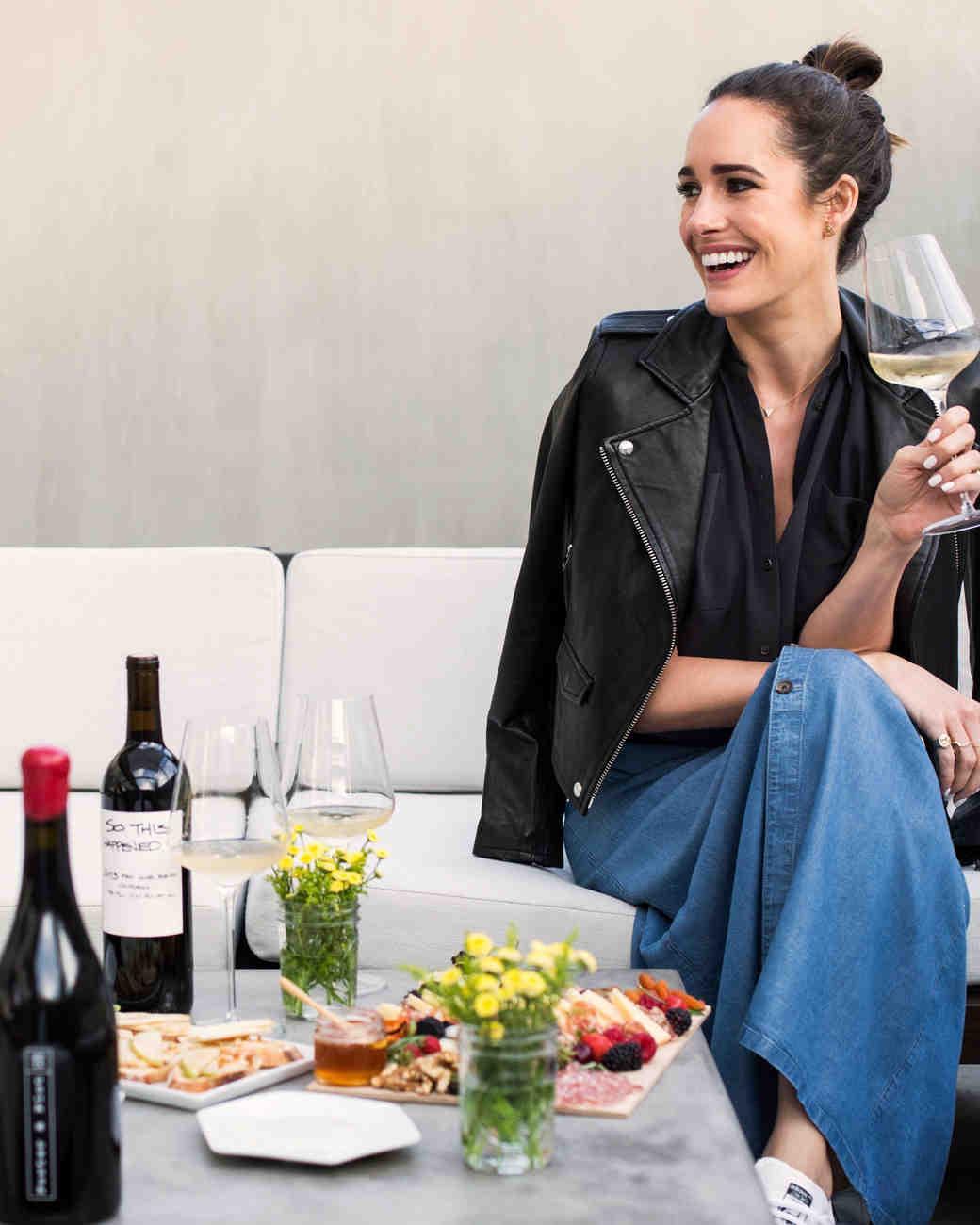 Louise Roe Tasting Wine