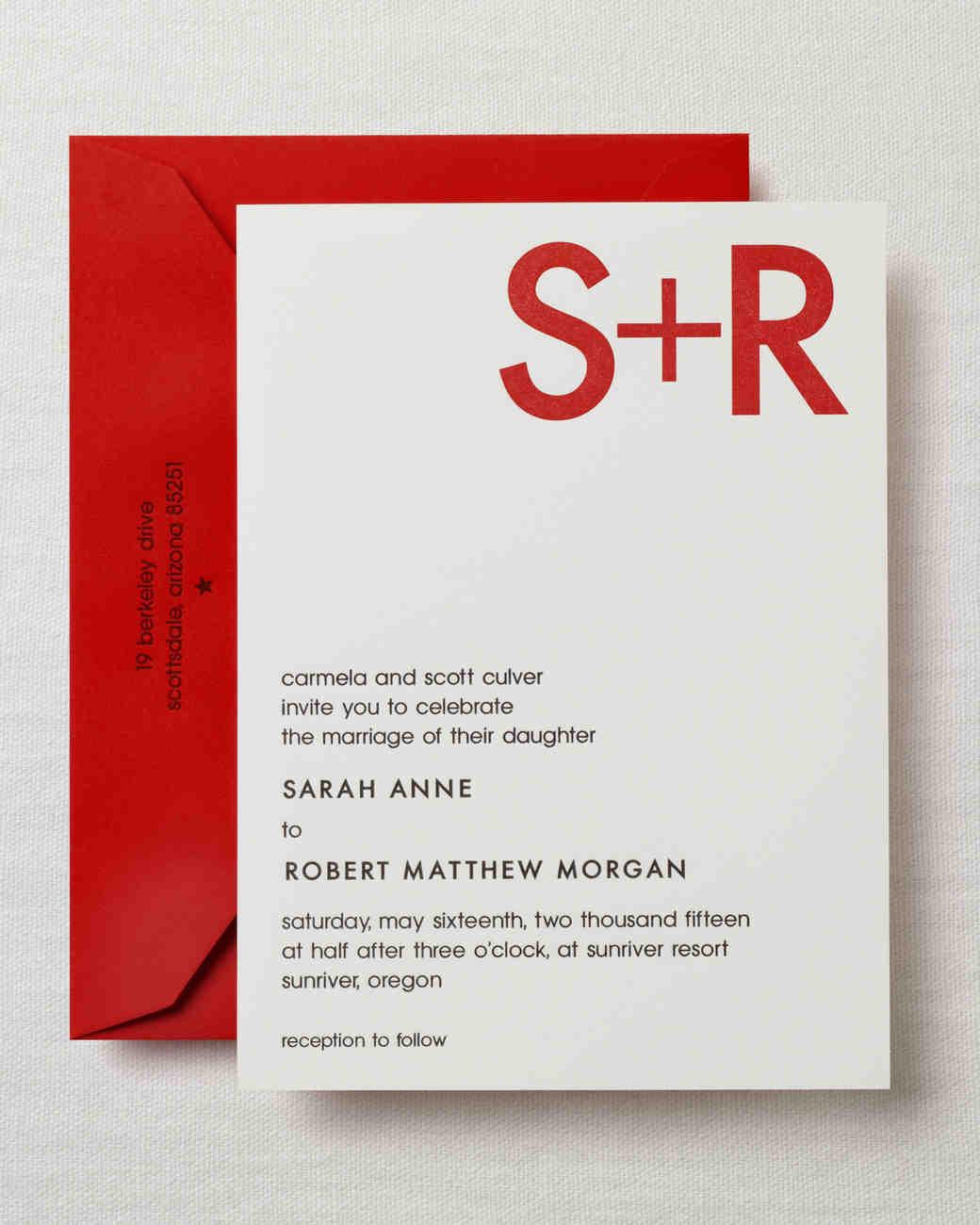 Modern Wedding Invitations Martha Stewart Weddings