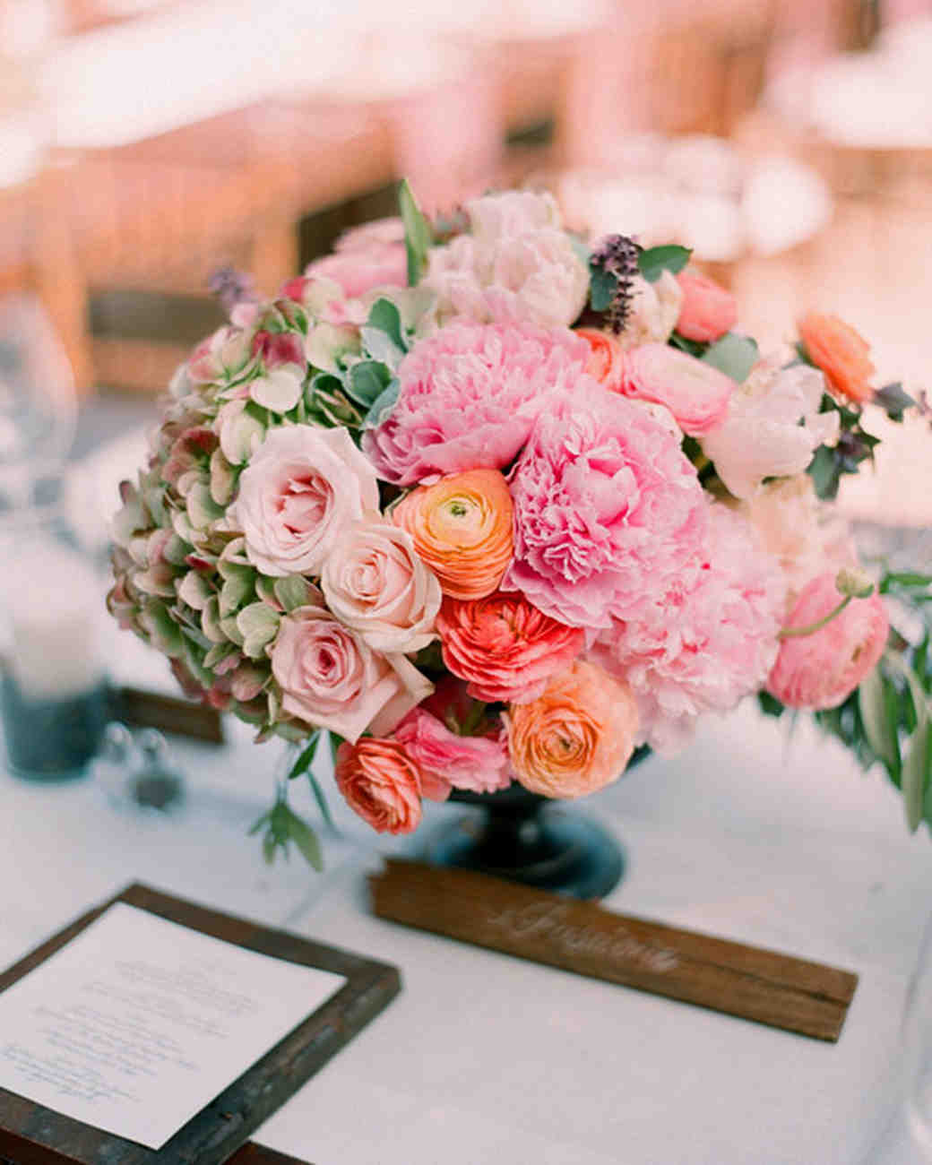 Pink wedding centerpieces martha stewart weddings