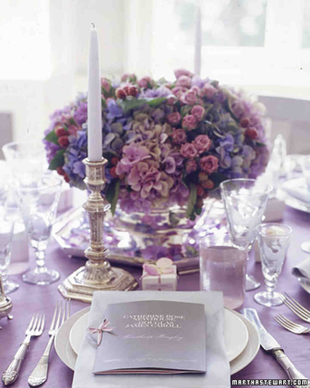 Wedding Centerpieces: Purple And Blue Wedding Centerpieces