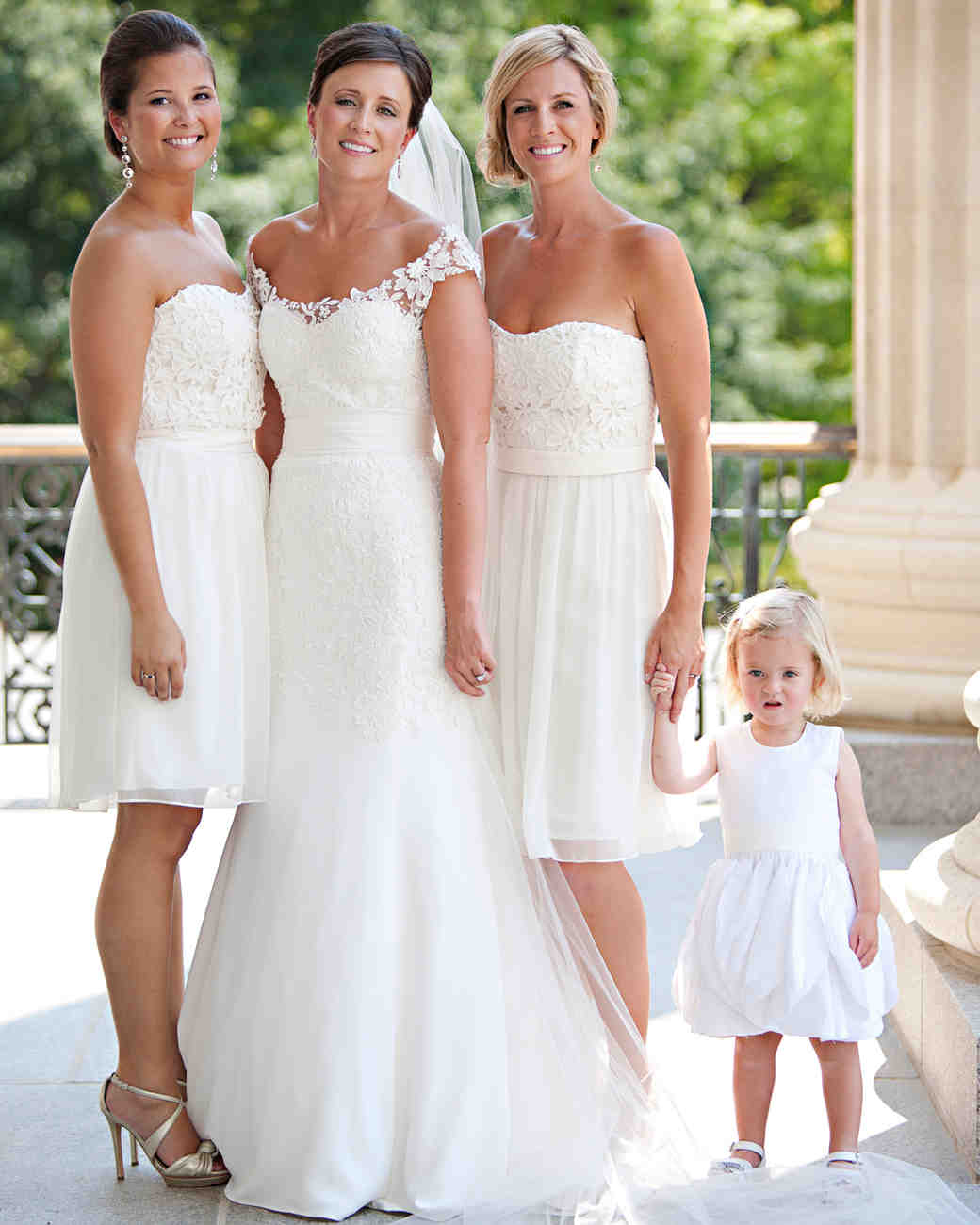 Bride Standing with Family Members