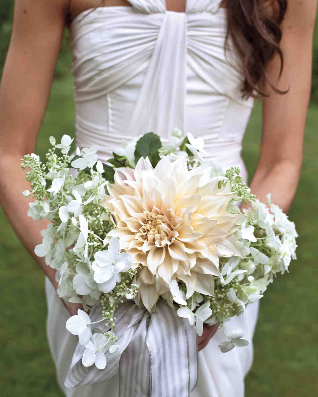 Dinner-Table Dahlia Bridal Bouquet