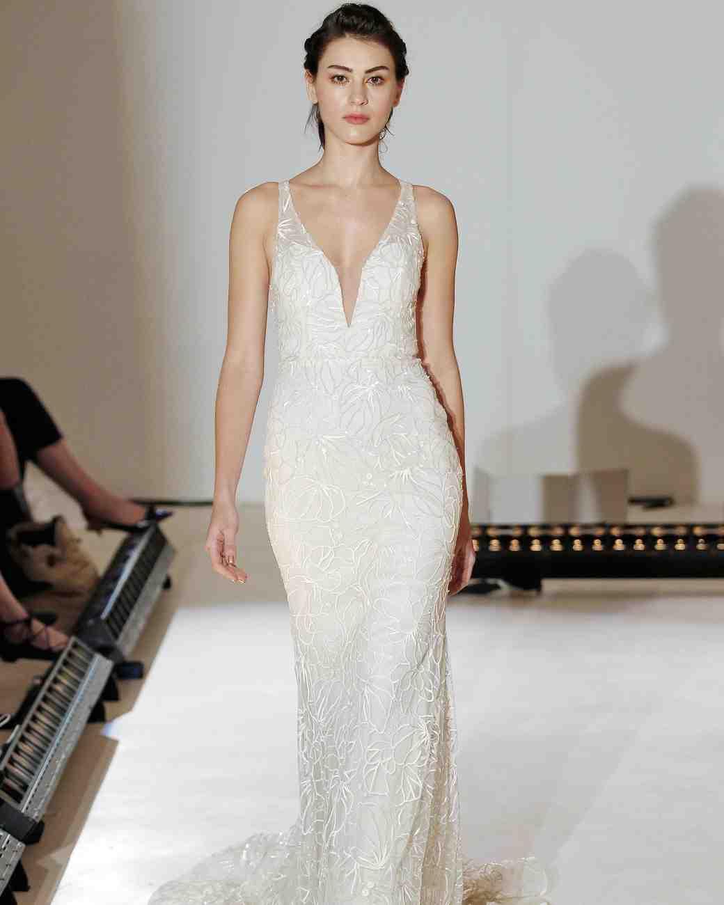Lazaro Simple Wedding Dress