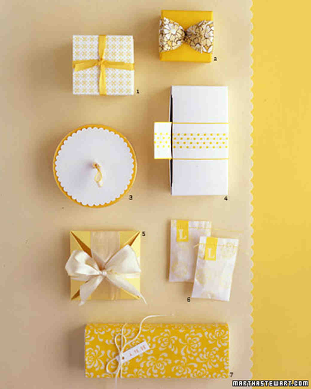 Yellow and White: Favors Inside and Out
